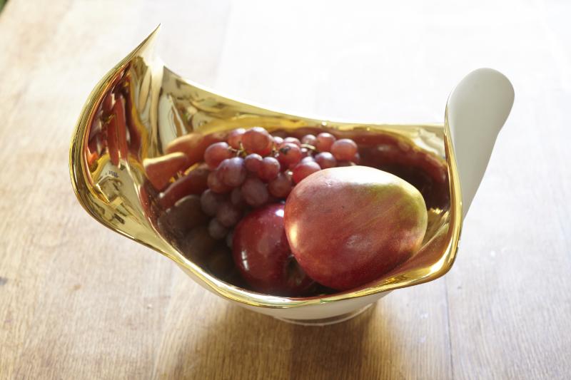 Fruchtschale -gold-Frucht--